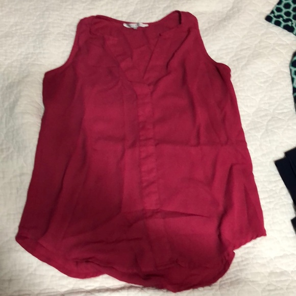 Violet & Claire Tops - Pink Sleeveless Blouse